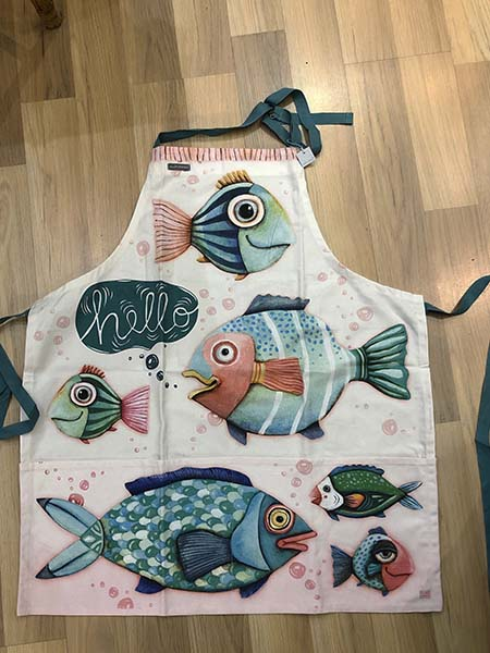 hello fish apron