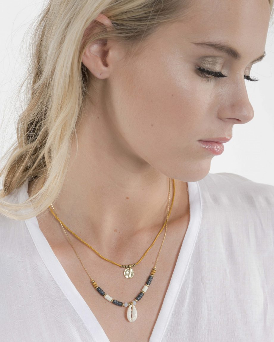 Navy Shell Necklace