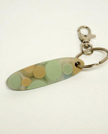 Mint Resin Keychain