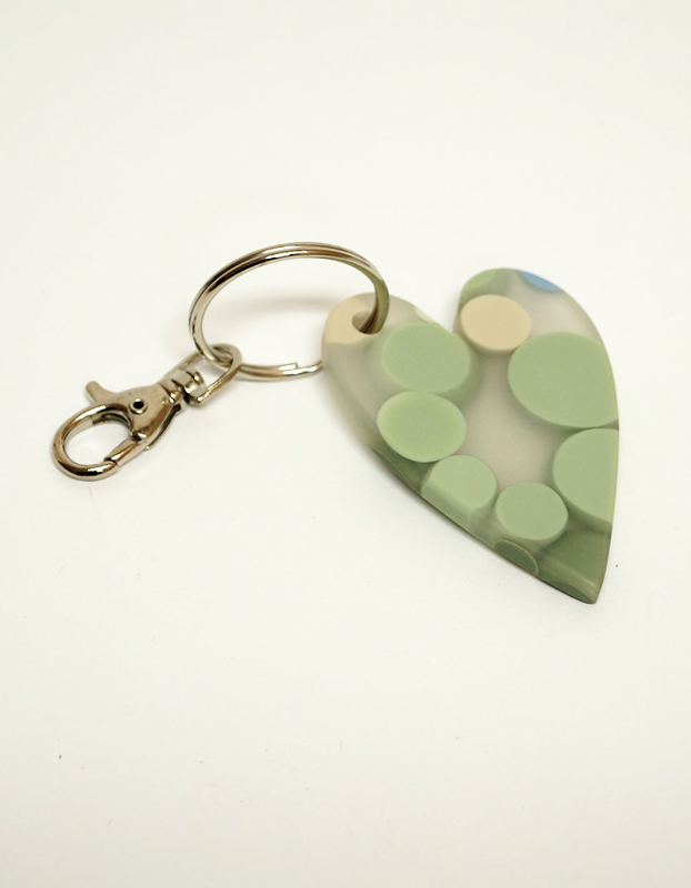 Heart Resin Keyring