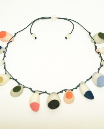 Water Resin Drop Necklace