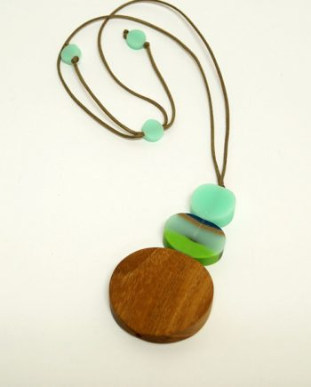 Lime Resin Necklace