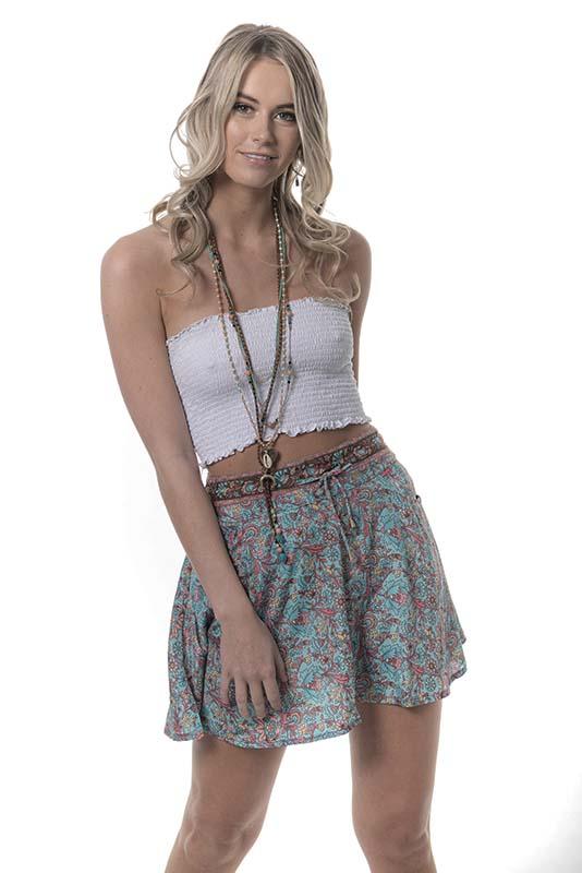 Tara Skirt Aqua