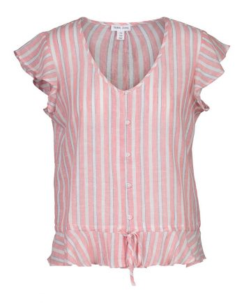 Peach button blouse