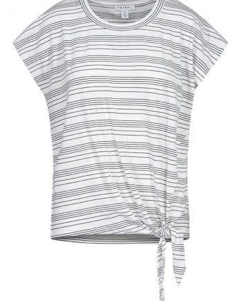 Tie Front Stripe Top