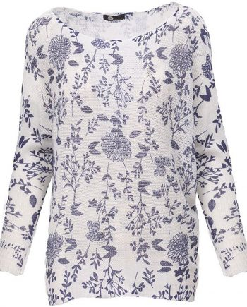 Floral combo knit