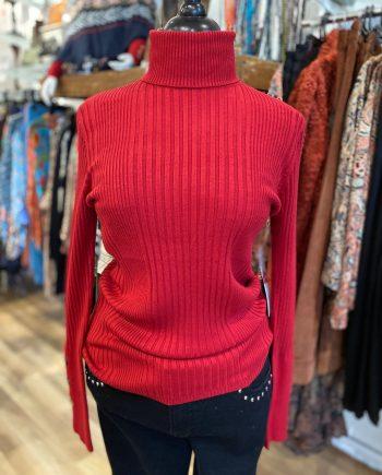 T Neck Button Knit