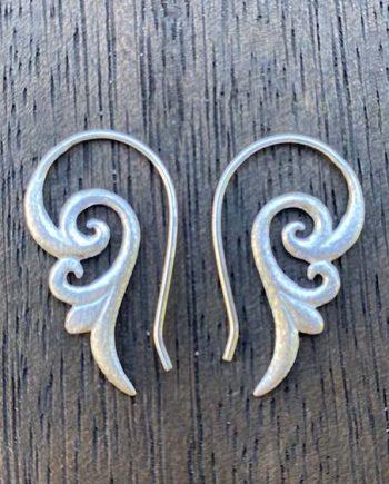 small swirl earrings
