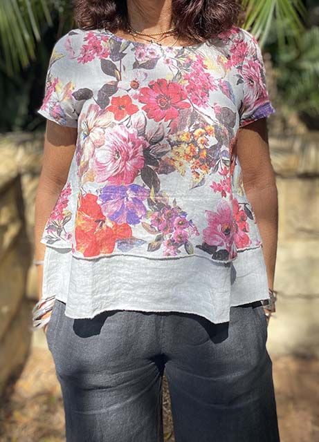 Floral Layer Top