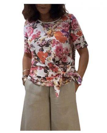 floral tie top