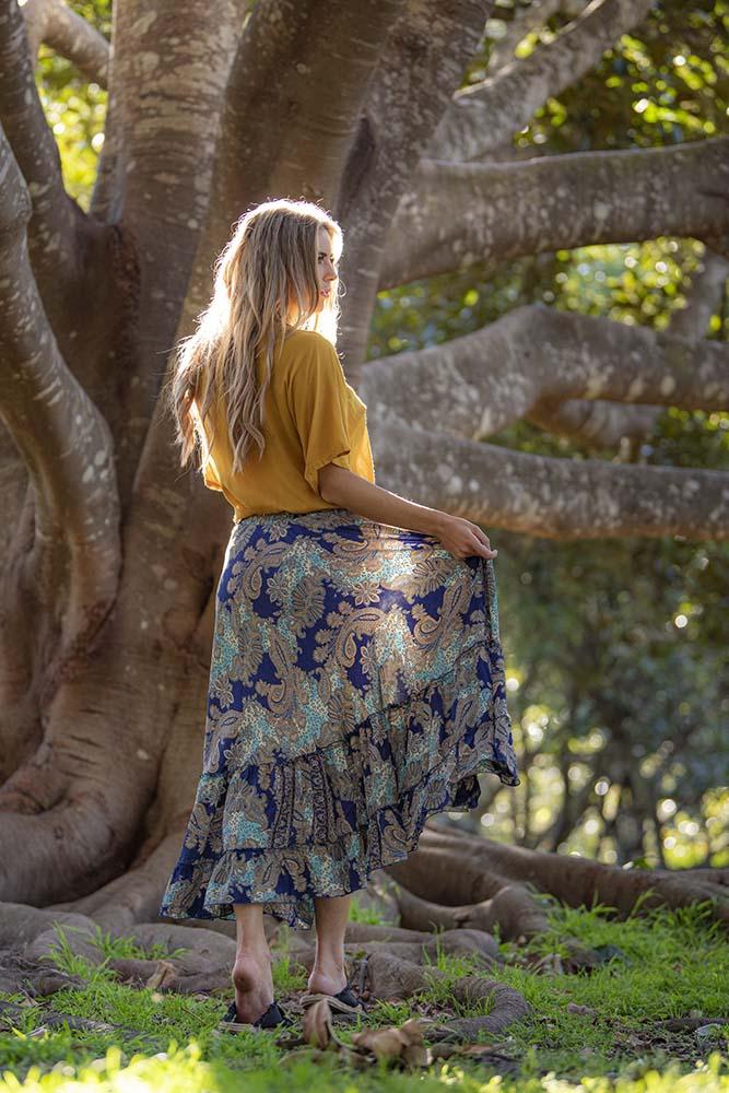 Mahala Maxi Skirt Ocean