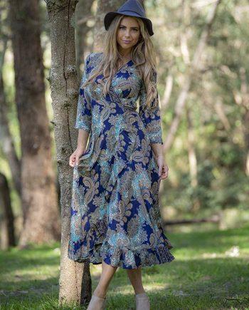 Mahala Dress Blue