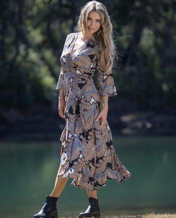 Mahala Dress Choc