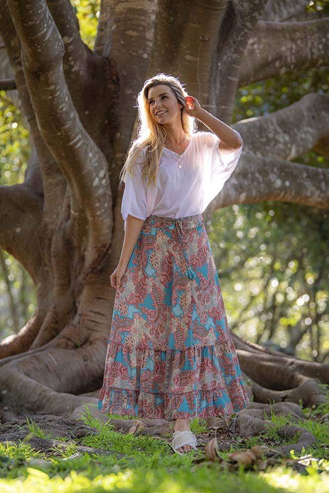 Mahala Maxi Skirt Blush