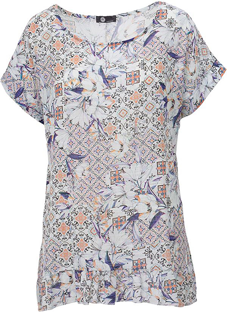 floral combo top
